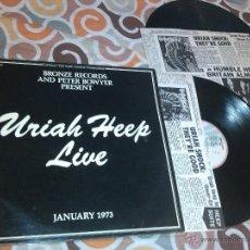 Discos de vinilo: URIAH HEEP - URIAH HEEP LIVE - JANUARY 1973 (2XLP) . Lote 39866142