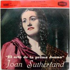 Discos de vinilo: JOAN SUTHERLAND - EL ARTE DE LA PRIMA DONNA N.2 - EP DECCA 1961 BPY. Lote 39874876