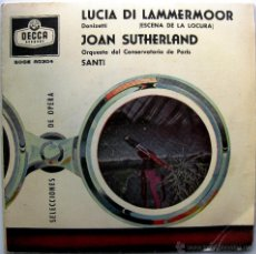 Discos de vinilo: JOAN SUTHERLAND - LUCIA DI LAMMERMOOR (DONIZETTI) - EP DECCA 1960 BPY. Lote 39874936