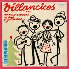 Discos de vinilo: SINGLE - VILLANCICOS POR MANOLO ESCOBAR Y SUS GUITARRAS - ED- BELTER - AÑO 1959 - RD3. Lote 39879140