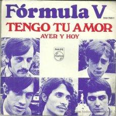 Discos de vinilo: FORMULA V SINGLE SELLO PHILIPIS AÑO 1969. Lote 39886713