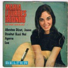 Discos de vinilo: MARIA LOURDES IRIONDO EZ DOK AMAIRU VINILO EP 45 RPM 1967. Lote 40045922
