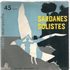 Discos de vinilo: EP COBLA MARAVELLA : SARDANES SOLISTES ( ADEU GENIS + 3) . Lote 39888663