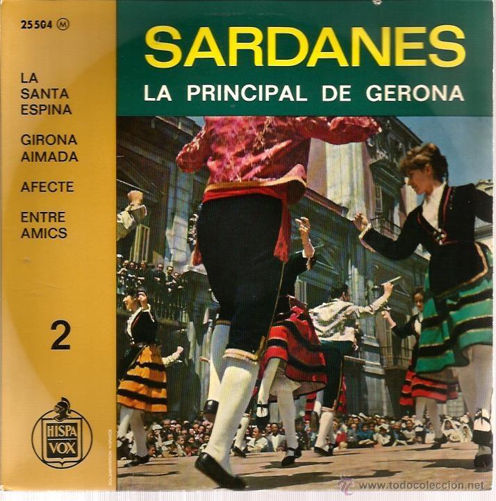 EP COBLA LA PRINCIPAL DE GERONA : SARDANES ( LA SANTA ESPINA + 3) (Música - Discos de Vinilo - EPs - Étnicas y Músicas del Mundo)