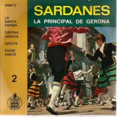 Discos de vinilo: EP COBLA LA PRINCIPAL DE GERONA : SARDANES ( LA SANTA ESPINA + 3). Lote 39888837