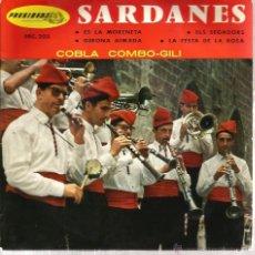 Discos de vinilo: EP COBLA COMBO-GILI SARDANES : ES LA MORENETA + 3 . Lote 39888926