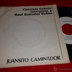Discos de vinilo: CUARTETO CEDRON GONZALEZ TUÑON. JUANSITO CAMINADOR + PACO IBAÑEZ ME GUSTAS CUANDO..SINGLE 1977 PROMO. Lote 39926169