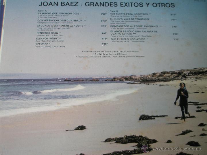 Discos de vinilo: LP-VINILO-JOAN BAEZ-GRANDES EXITOS Y OTROS-1974-11 TEMAS-HISPAVOX-. - Foto 3 - 39896572