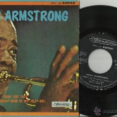 Discos de vinilo: LOUIS ARMSTRONG EP FRANKIE AND JOHNNY FRANCIA. Lote 39910350