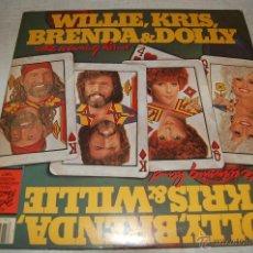 Discos de vinilo: KRIS,WILLIE, DOLLY & BRENDA THE WINNING HAND. Lote 39926095