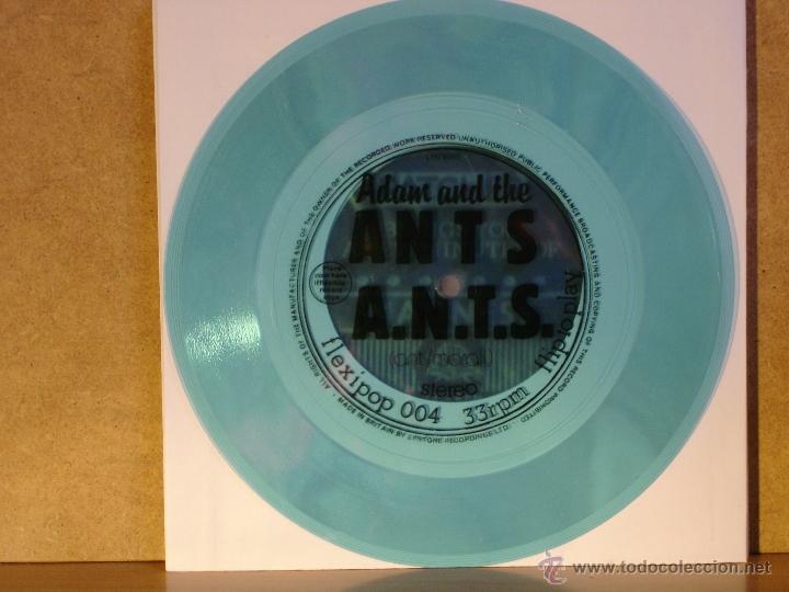 ADAM AND THE ANTS - A.N.T.S. - FLEXIPOP 004 - FLEXIDISC AZUL TRANSPARENTE - EDICION UK (Música - Discos de Vinilo - Singles - Pop - Rock Internacional de los 80)