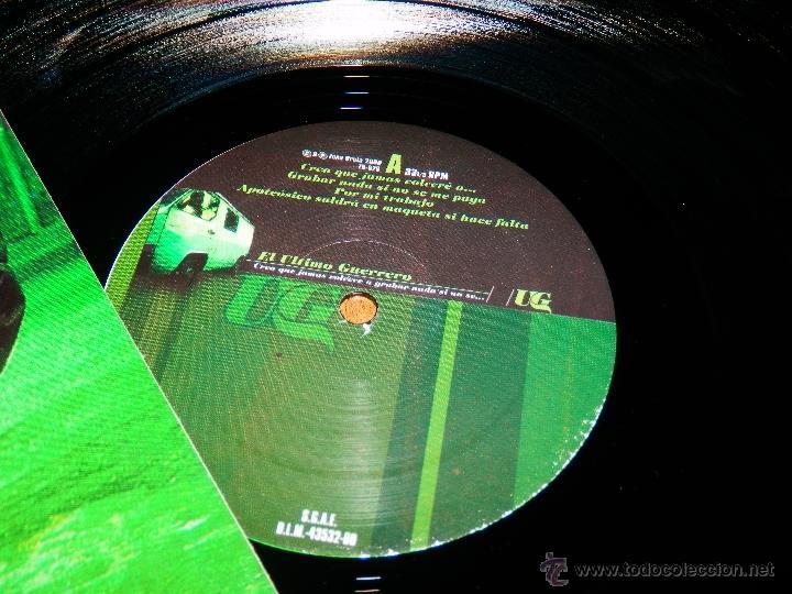 Discos de vinilo: EL ULTIMO GUERRERO UG CREO QUE JAMAS VOLVERE A GRABAR MAXI VINILO HIP HOP ESPAÑOL NUEVO ZONA BRUT ZB - Foto 3 - 146595341