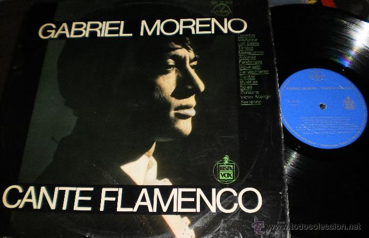 GABRIEL MORENO LP CANTE FLAMENCO MEXICO (Música - Discos - LP Vinilo - Flamenco, Canción española y Cuplé)