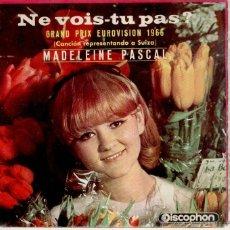 Discos de vinilo: MADELEINE PASCAL - FESTIVAL GRAN PRIX EUROVISION 1966 - EP SPAIN EX / EX. Lote 39936681