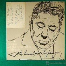 Discos de vinilo: EL POETA-MALAMBO-LA OLVIDADA-ATAHUALPA YUPANQUI-DEDICATORIA MANUSCRITA A J.Mª GISPERT GUINOVART-1968. Lote 39947163