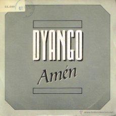 Disques de vinyle: DYANGO - AMÉN - SINGLE 1988 - PROMO. Lote 40000864