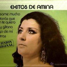 Discos de vinilo: LP EXITOS DE AMINA ( INCLUYE TEMAS DE FELIPE CAMPUZANO, CAMILO BLANES Y LOS MITOS ) . Lote 39959092