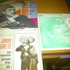 Discos de vinilo: LOTE 3 SINGLES JORGE NEGRETE. Lote 39961100