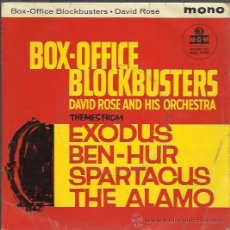 Discos de vinilo: DAVID ROSE AND HIS ORCHESTRA - BOX-OFFICE BLOCKBUSTERS - EP MGM UK. Lote 39964247