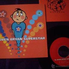 Discos de vinilo: JOVEN BRYAN SUPERSTAR EP ABRIGADOS+3 INCLUYE INSERT ED. LIMIT. MUY RARO SIESTA 1994 EX+. Lote 39972663