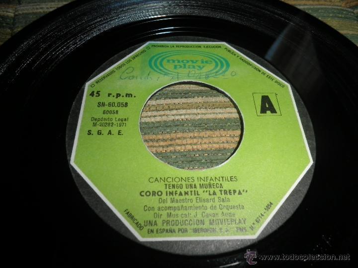 Discos de vinilo: CANCIONES INFANTILES - TENGO UNA MUÑECA / EL PATIO DE MI CASA SINGLE MOVIEPLAY 1972 PORTADA DOBLE - Foto 3 - 39974271