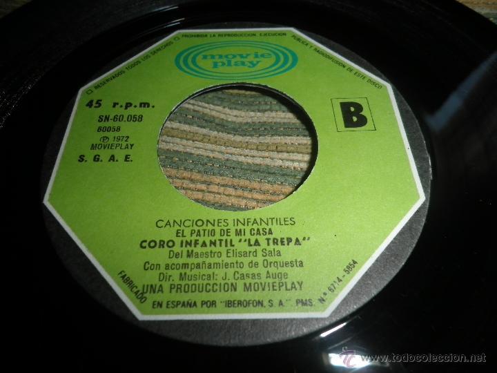 Discos de vinilo: CANCIONES INFANTILES - TENGO UNA MUÑECA / EL PATIO DE MI CASA SINGLE MOVIEPLAY 1972 PORTADA DOBLE - Foto 5 - 39974271
