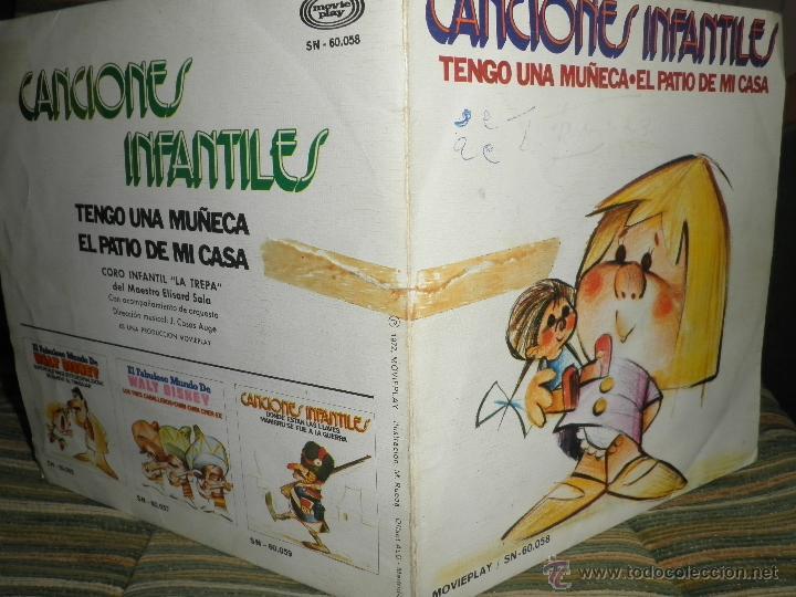 Discos de vinilo: CANCIONES INFANTILES - TENGO UNA MUÑECA / EL PATIO DE MI CASA SINGLE MOVIEPLAY 1972 PORTADA DOBLE - Foto 10 - 39974271