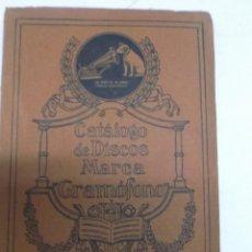 Discos de vinilo: CATALOGO DE DISCOS MARCA GRAMOFONO JUNIO 1918. Lote 39974504