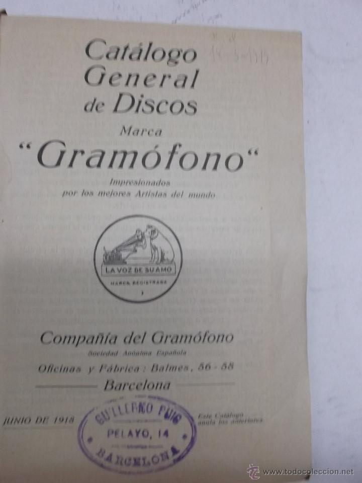 Discos de vinilo: CATALOGO DE DISCOS MARCA GRAMOFONO JUNIO 1918 - Foto 2 - 39974504