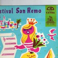 Disques de vinyle: FESTIVAL DE SAN REMO 1959 - DISCO 10 PULGADAS FRANCE. Lote 39984995