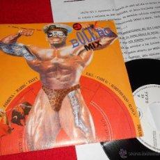 Disques de vinyle: BOLERO MIX 3 RAUL ORELLANA MIX 7 SINGLE 1988 BLANCO NEGRO + HOJA PROMO ITALO MARRS AZUL NEGRO TINA . Lote 39994458