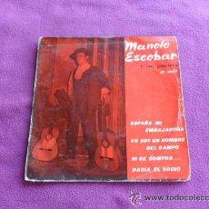 Discos de vinilo: MANOLO ESCOBAR . ESPAÑA MI EMBAJADORA - SAEF -. Lote 39995852