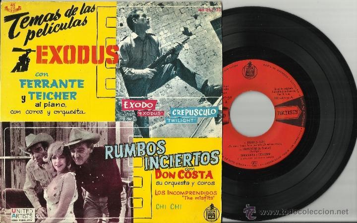 EXODUS FERRANTE TEICHER Y RUMBOS INCIERTOS DON COSTA EP ESPAÑA 1962 (Música - Discos de Vinilo - EPs - Bandas Sonoras y Actores)
