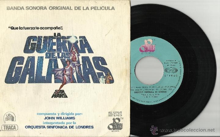 LA GUERRA DE LAS GALAXIAS STAR WARS THEME/CANTINA BAND SINGLE 1977 (Música - Discos - Singles Vinilo - Bandas Sonoras y Actores)