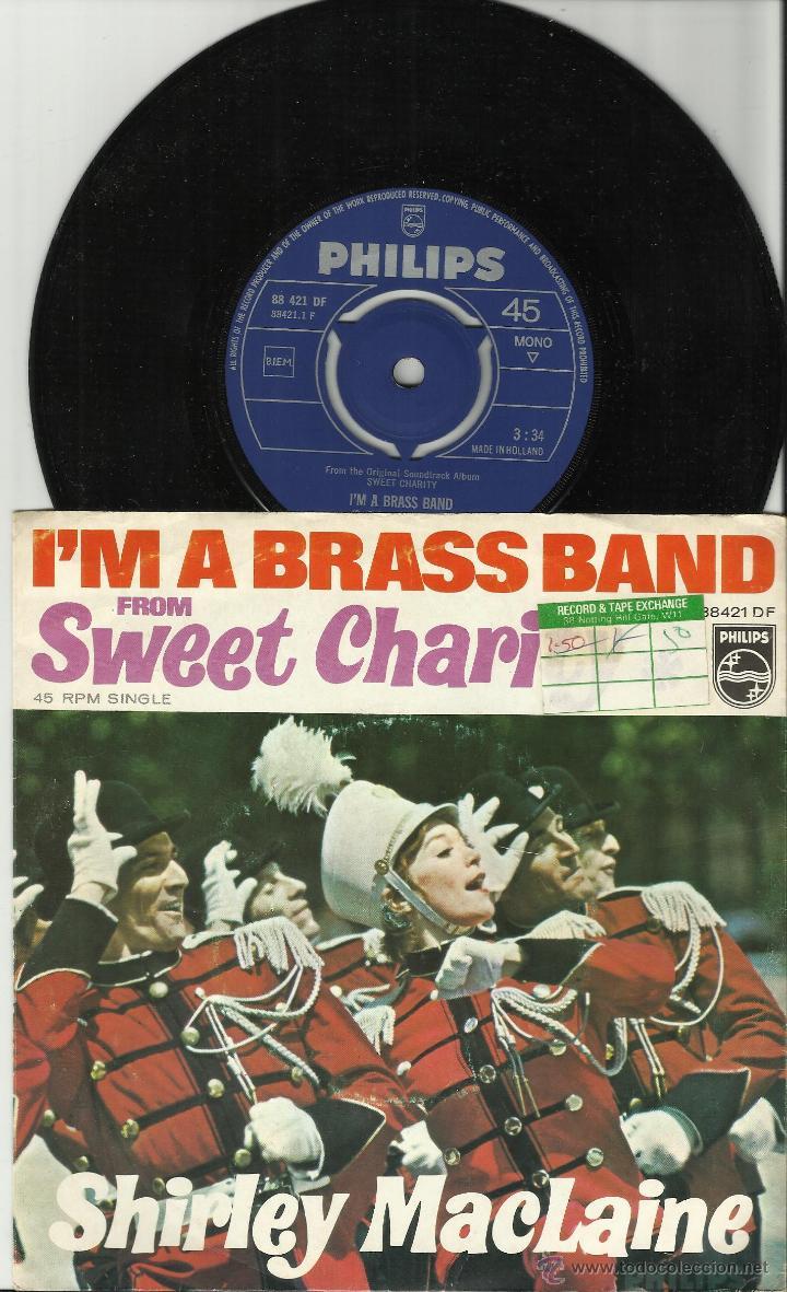 SHIRLEY MACLAINE SINGLE PROMOCIONAL SOLO UNA CARA I'M A BRASS BAND HOLANDA 1969 (Música - Discos - Singles Vinilo - Bandas Sonoras y Actores)