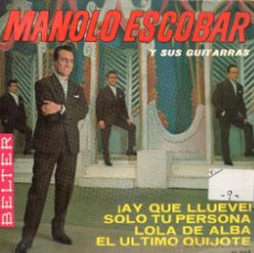 Discos de vinilo: SINGLE MANOLO ESCOBAR Y SUS GUITARRAS. Lote 40010961