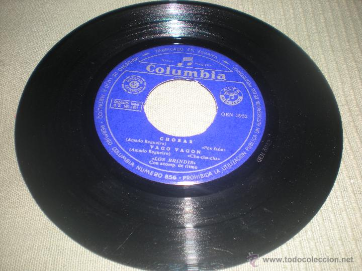 Discos de vinilo: LOS BRINDIS . VAGO -VAGON -- BILLETE AL ESPACIO - ABRELE CORAZÓN - CHORAR - Foto 2 - 40011624