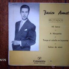 Discos de vinilo: JAVIER ARMET - RECITADOS - MI BARCA + 3. Lote 40033601