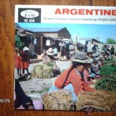Discos de vinilo: ARGENTINA - DOCUMENTOS FOLKLORICOS RECOGIDOS Y GRABADOS POR JACQUES CORNET . Lote 40058925