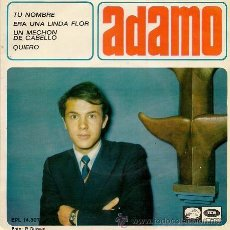 Discos de vinilo: ADAMO: UN MECHÓN DE CABELLO (EP DE 1966). Lote 40020828
