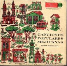 Discos de vinilo: DOBLE SINGLE CANCIONES POPULARES MEJICANAS MIGUEL ACEVES MEJIA 2 DISCOS . Lote 40022756