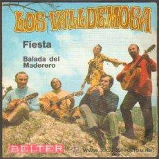 Discos de vinilo: LOS VALLDEMOSA. FIESTA,BALADA DEL MADERERO RF-224,3. Lote 40026867