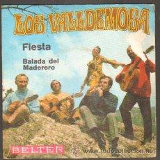 Discos de vinilo: LOS VALLDEMOSA. FIESTA,BALADA DEL MADERERO RF-223. Lote 49623690