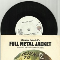 Discos de vinilo: LA CHAQUETA METALICA SINGLE FULL METAL JACKET INGLATERRA 1987. Lote 40027232