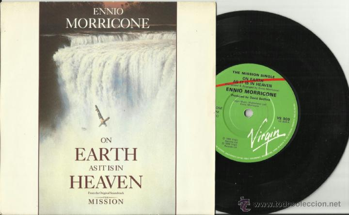 Discos de vinilo: ennio morricone single the mission on earth as it is in heaven inglaterra 1986 - Foto 1 - 40027647