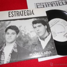 Discos de vinilo: ESTRATEGIA PLANETA AZUL 7 SINGLE 1993 SALAMANDRA PROMO UNA CARA + HOJA PROMO. Lote 40034159