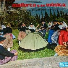 Discos de vinilo: MALLORCA Y SU MUSICA, AGRUP. EL PARADO DEL VALLDEMOSA, DOBLE CARPETA CON FOTOS Y LETRAS , LP 1968. Lote 40043897
