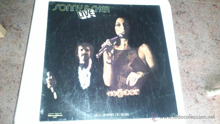 SONNY & CHER LIVE .LP (Música - Discos de Vinilo - EPs - Pop - Rock Extranjero de los 70)