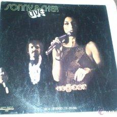 Discos de vinilo: SONNY & CHER LIVE .LP. Lote 40073389