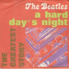 Discos de vinilo: THE BEATLES - A HARD DAY'S NIGHT - THINGS WE SAID TODAY - SG ITALY VG++ / EX. Lote 40055508